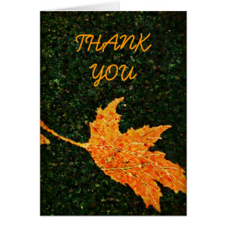 Falling Leaf Oil Painting Thank You Note Card
