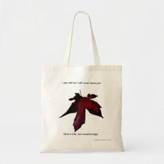 Falling Leaf reusable grocery bag, tote. Budget Tote Bag
