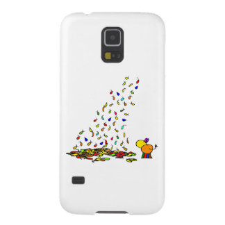 falling leaves and donkey case for galaxy s5