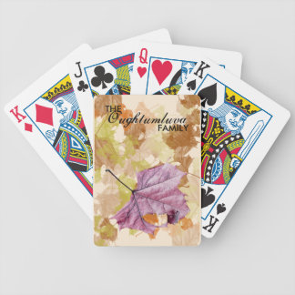 """falling leaves"" autumn PLAYING CARDS"