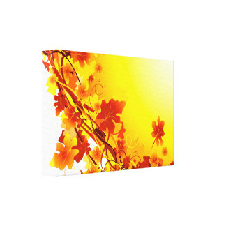 Falling Leaves Gallery Wrapped Canvas
