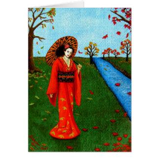 """Falling Leaves"" Card"