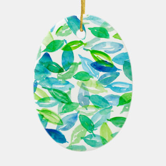 Falling Leaves Ceramic Ornament
