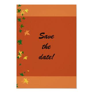 "Falling Leaves Classic Anniversary  Invitation 5"" X 7"" Invitation Card"