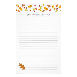 Falling leaves Decorated Note Writing Paper Customised Stationery