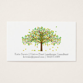 Falling Leaves in the Wind Business Card