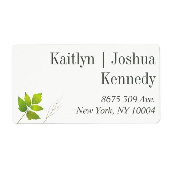 Falling Leaves Maple Oak Wedding Address