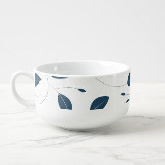 Falling leaves soup mug