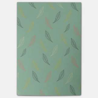 Falling Leaves Teal Post-It Notes