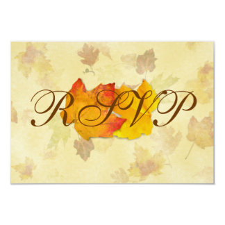 Falling Leaves, Two Maples Wedding Reply Cards