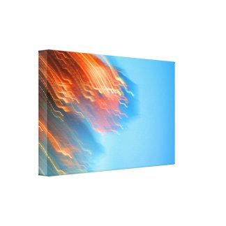 Falling Lites Canvas Print