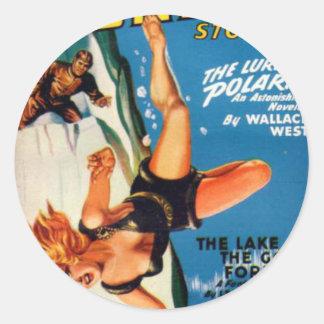 Falling Off a Glacier Classic Round Sticker