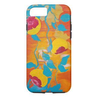 Falling Persimmons in Yellow iPhone 8/7 Case