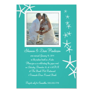 Falling Sea Stars Post-Wedding Photo Invitation