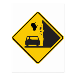 Falling Sheep Zone Highway Sign Post Card