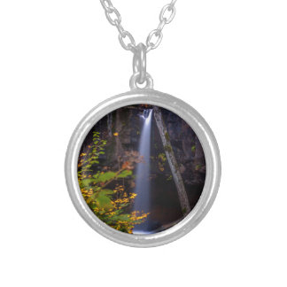 Falling Silver Plated Necklace