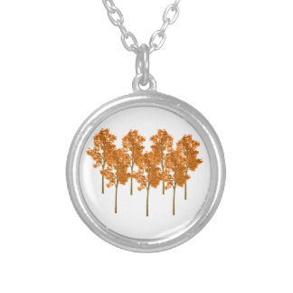 Falling Skies Silver Plated Necklace