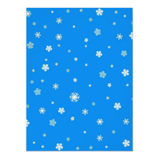 FALLING SNOW (a snowflake design) ~ 17 Cm X 22 Cm Invitation Card