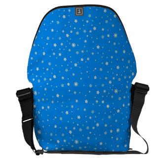 FALLING SNOW (a snowflake design) ~ Messenger Bag