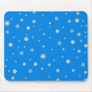 FALLING SNOW (a snowflake design) ~ Mouse Pad
