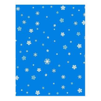FALLING SNOW (a snowflake design) ~ Postcard