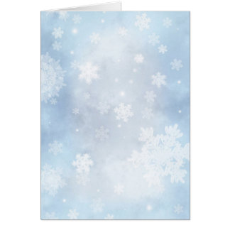 Falling Snow Christmas Greetings Card