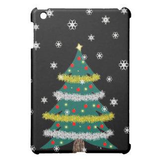 Falling Snow Christmas Tree iPad Mini Case