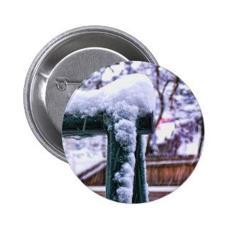 Falling Snow Pinback Buttons