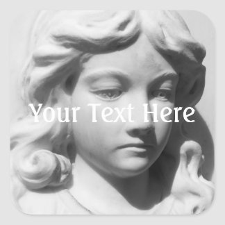 Falln Angel in Mourning Square Sticker