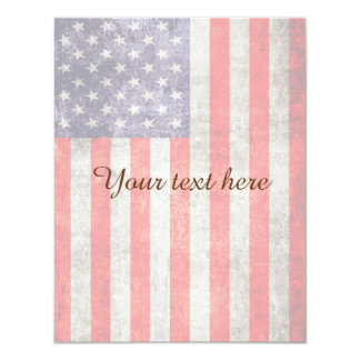 Falln Antique American Flag 11 Cm X 14 Cm Invitation Card