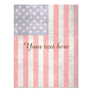 Falln Antique American Flag 11 Cm X 14 Cm Invitation Card