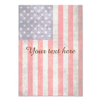 Falln Antique American Flag 9 Cm X 13 Cm Invitation Card