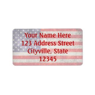 Falln Antique American Flag Address Label