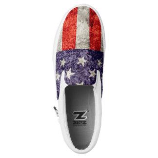 Falln Antique American Flag Printed Shoes