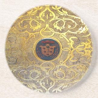 Falln Antique Golden Swirls Coaster