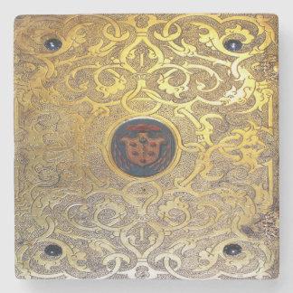 Falln Antique Golden Swirls Stone Coaster