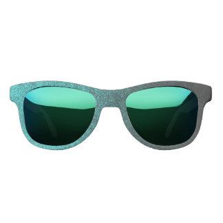 Falln Aqua & Black Glitter Gradient Sunglasses