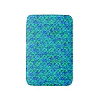Falln Aqua Blue Scales Bath Mat