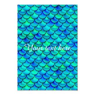 Falln Aqua Blue Scales Card