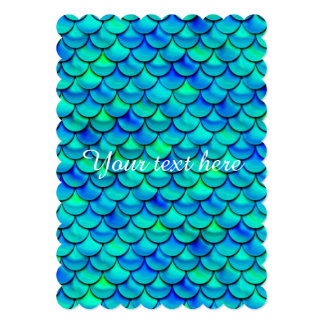 Falln Aqua Blue Scales Card