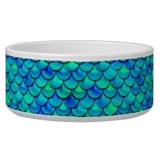 Falln Aqua Blue Scales Dog Bowls