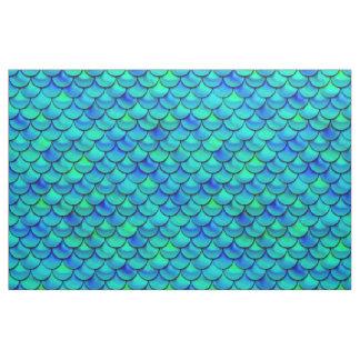 Falln Aqua Blue Scales Fabric