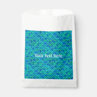 Falln Aqua Blue Scales Favour Bag