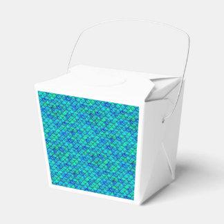 Falln Aqua Blue Scales Favour Box
