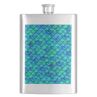 Falln Aqua Blue Scales Flasks