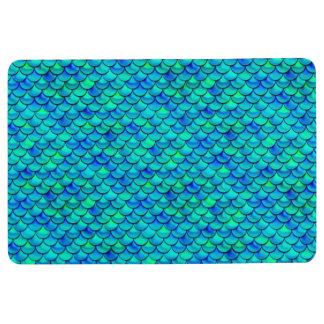 Falln Aqua Blue Scales Floor Mat