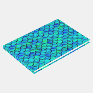 Falln Aqua Blue Scales Guest Book