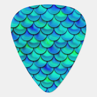 Falln Aqua Blue Scales Guitar Pick