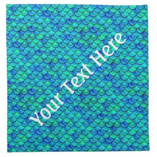 Falln Aqua Blue Scales Napkin