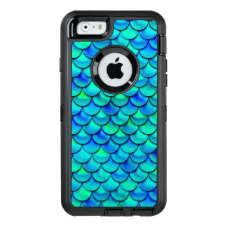 Falln Aqua Blue Scales OtterBox iPhone 6/6s Case